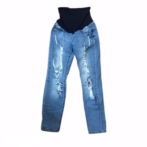 SONG Maternity Distressed Jeans 0335